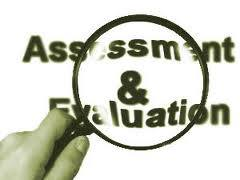 """Assessment & evaluation"" with magnifying glass"